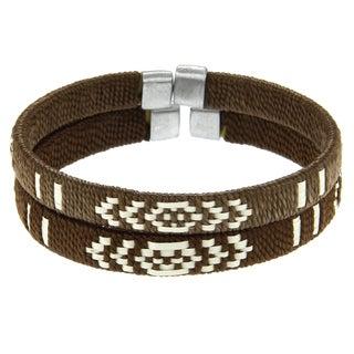 Set of 2 Cana Flecha Brown/ Natural Bracelet (Colombia)