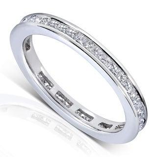 Annello 14k Gold 1ct TDW Princess Diamond Eternity Ring (G-H, SI1-SI2)