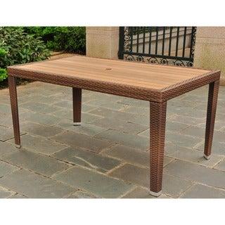International Caravan Resin Wicker/Aluminum Outdoor Table