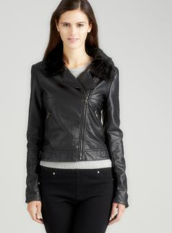 Romeo & Juliet Couture Zip Jacket With Faux Fur