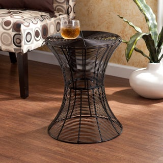 Upton Home Kayden Indoor/ Outdoor Black Metal Accent Table