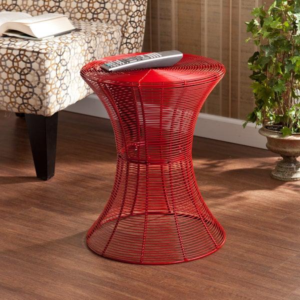 Upton Home Kayden Indoor/ Outdoor Red Metal Accent Table