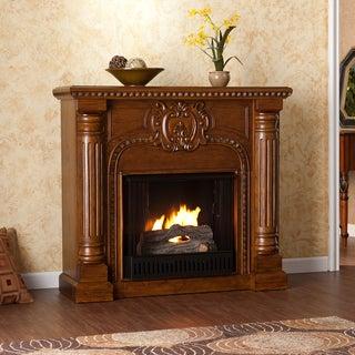 Upton Home Charnell Oak Gel Fuel Fireplace