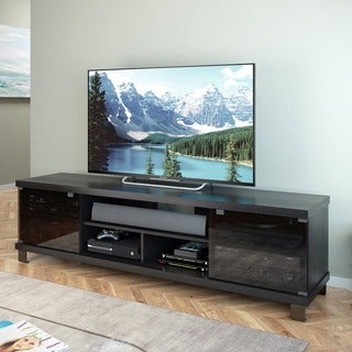Sonax Holland Collection Wood Ravenwood Black Extra Wide 70.75-inch Entertainment Center