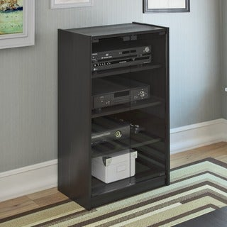 Sonax Cranley Wood Midnight Black 21-inch Component Stand