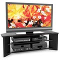 Sonax South Beach Wood Midnight Black 58-inch Entertainment Center