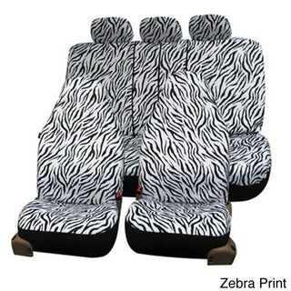 FH Group Animal Print Velour Airbag Compatible & Split Rear Seat Covers