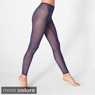 American Apparel Women's Nylon Spandex Micro-mesh Legging