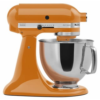 KitchenAid RRK150TG Tangerine 5-quart Artisan Tilt-Head Stand Mixer (Refurbished)