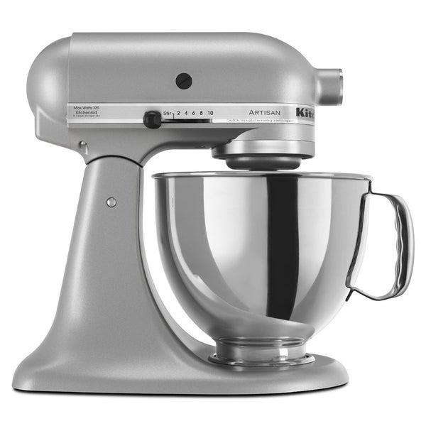 KitchenAid RRK150SM Silver Metallic 5-quart Artisan Tilt-Head Stand Mixer (Refurbished)