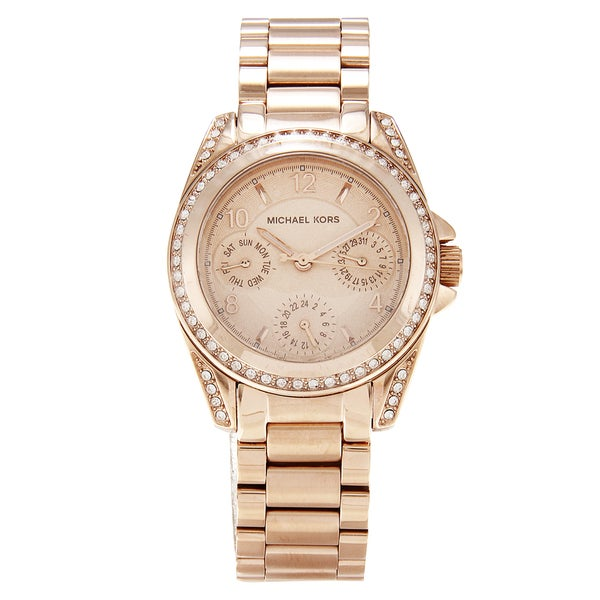 Michael Kors Women's MK5613 Mini Blair Rose Goldplated Watch