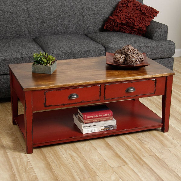 Cape Red Coffee Table Indonesia Overstock Shopping