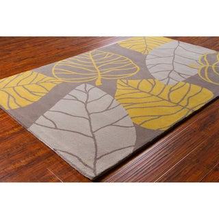 Allie Handmade Grey Wool Rug (5' x 7'6)