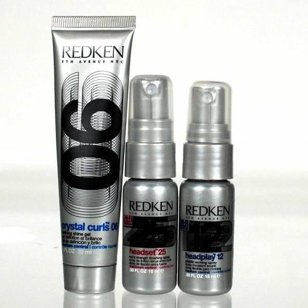Redken Crystal Curls Headset and Headplay 3-piece Travel-size Set