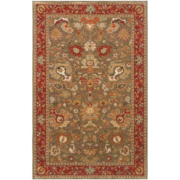 Hand-tufted Oriental Grey Brown Wool Area Rug (9'6 x 13'6)