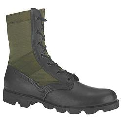 Men's Altama Footwear OD Jungle Boot 8853 Black Leather/Olive Drab Cotton Duck