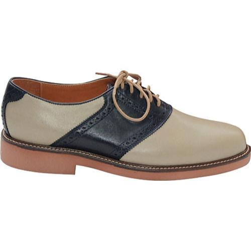 Men's David Spencer Saddle Khaki/Navy Leather