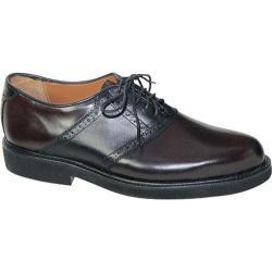 Men's David Spencer Sport Saddle Black/Burgundy Leather