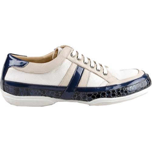 Men's GooDoo Classic 001 White/Navy/Ivory Calf