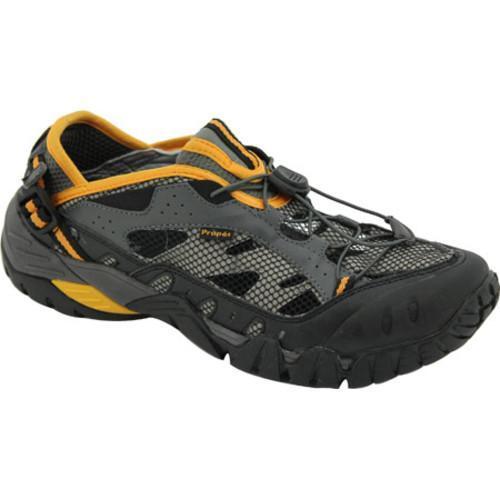 Men's Propet Endurance Black/Grey/Yellow