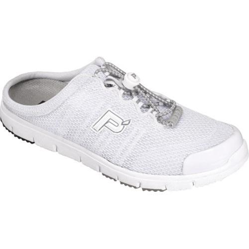 Women's Propet Travel Walker Slide White Mesh