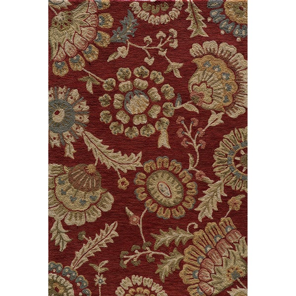 Copia Odessa Brick Hand-Hooked Polyester Rug (2' x 3')