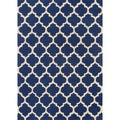 Hand-hooked Casablanca Blue Polyester Rug