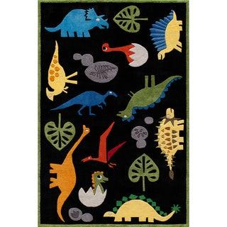 Momeni 'Lil Mo Dinosaur Black Rug (2' x 3')