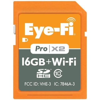 Eye-Fi 16GB Pro X2 SDHC Class 10 Wireless Flash Memory Card (New in Non-Retail Packaging)