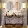 Beveled Frameless Oval Mirror