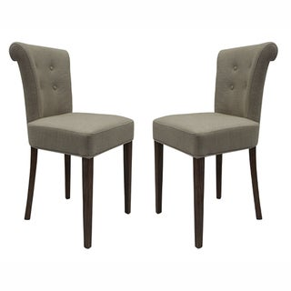nuLOOM Casual Living Weathered Vintage French Upholstered Linen Dining Chairs (Set of 2)
