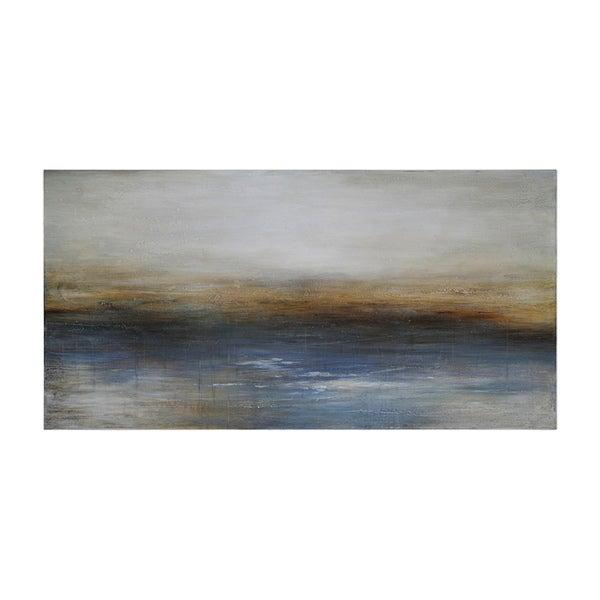 Charlene Lynch 'Calm Seas' Hand-painted Canvas Art