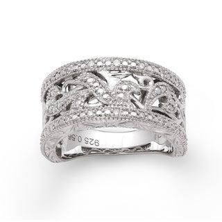 Sterling Silver 1/10ct TDW Diamond Ring (H-I, I2-I3)
