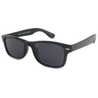 Urban Eyes Retro Polarized Rectangular Sunglasses with Black Frame