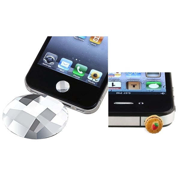 BasAcc Diamond HOME Button Sticker/ Dust Cap for Apple iPhone 4/ 4S/ 5