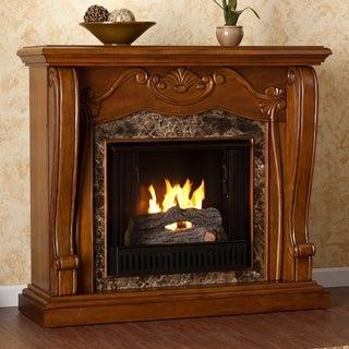 Upton Home Sandro Walnut Gel Fuel Fireplace