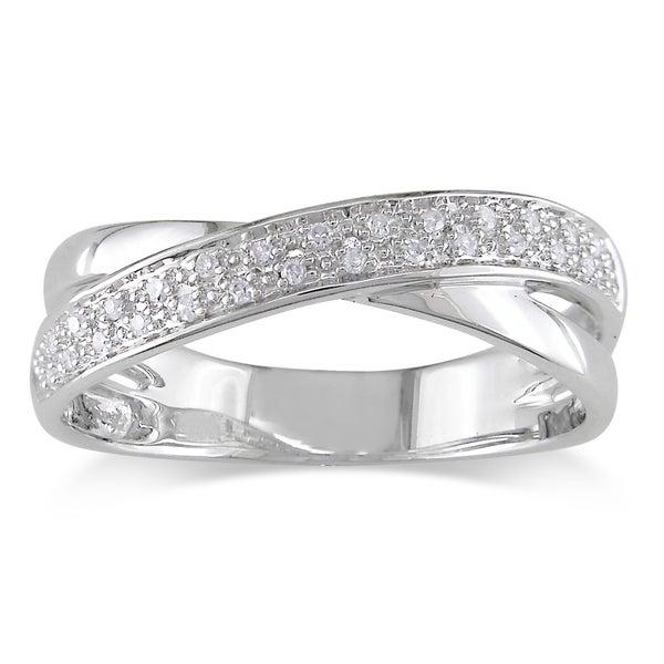 Miadora 10k White Gold Diamond Ring (H-I, I2-I3)