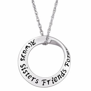 Personalized Friend Sentiment Bracelet Sentiment Mobius Necklace