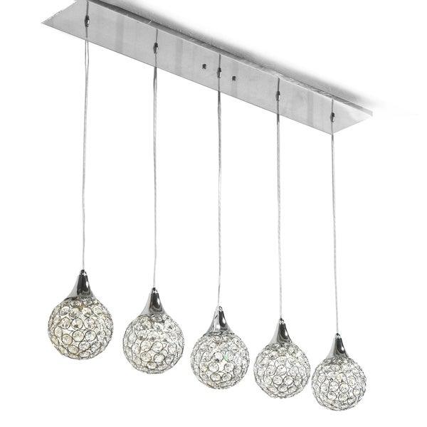 Reba Silver Modern Ceiling Light Fixture