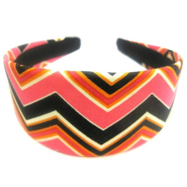Crawford Corner Shop Black Pink Zig Zag Headband