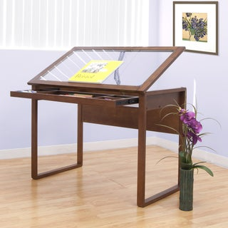 Offex Ponderosa Glass Topped Table (Sonoma Brown)