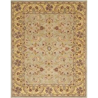 Safavieh Handmade Heritage Kerman Grey/ Gold Wool Rug