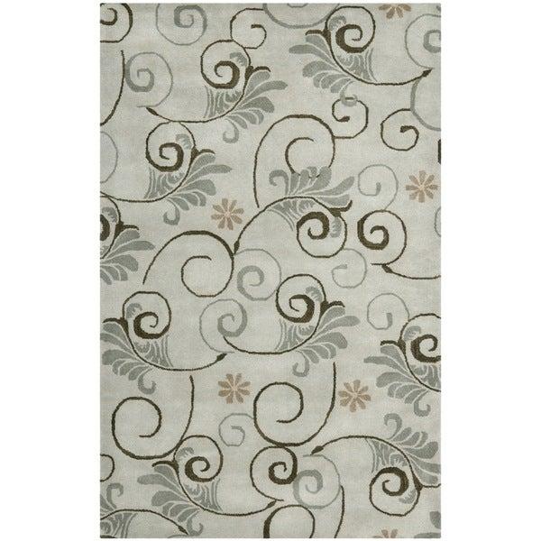 Safavieh Handmade Soho Garden Scrolls Grey New Zealand Wool Rug