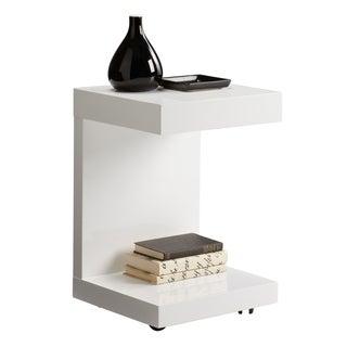 Sunpan Bachelor Gloss White TV Table with Drawer