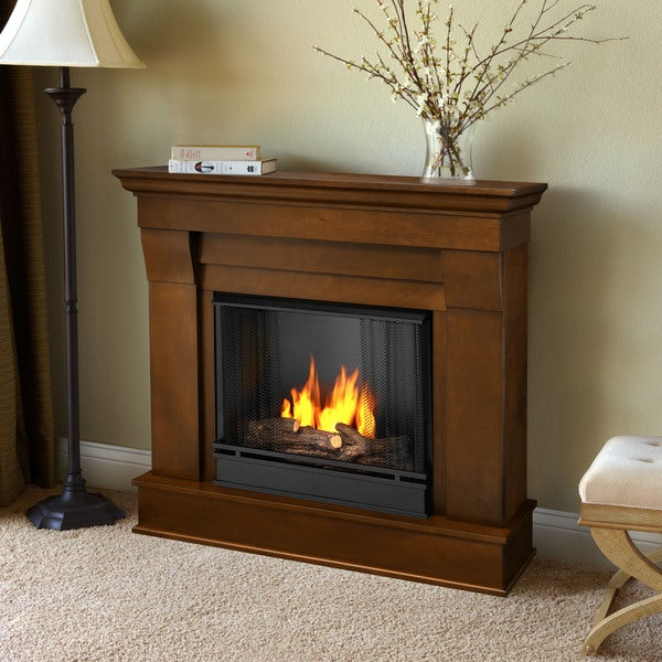 Real Flame Espresso Chateau Gel Fireplace