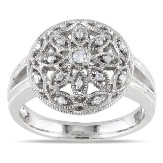 Haylee Jewels Sterling Silver 1/10ct TDW Diamond Ring (G-H, I1-I2)