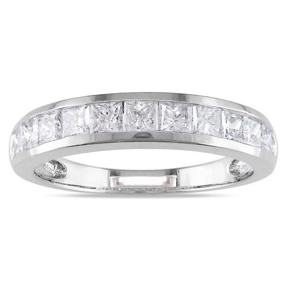 Miadora 14k White Gold 1ct TDW Diamond Anniversary Ring (G-H, I1-I2)
