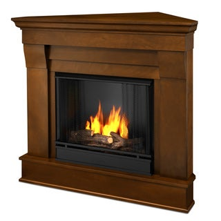 Real Flame Chateau Espresso Gel Corner Fireplace