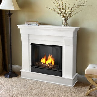 Real Flame Chateau White Gel Indoor Fireplace