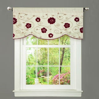 Royal Embrace Red Curtain Valance
